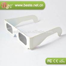 cheap cardboard linear polarized paper 3d glasses