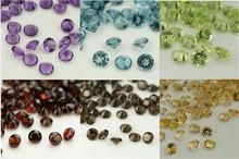 China Supplier Round Shape 0.7mm-20mm Blue topaz Natural Gemstone