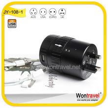 WonTravel wholesale USB plug for world travel,universal switched USB plug charger/plug socket,CE,ROHS UK,EU,US,AUplug adapters