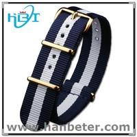 PVD buckle high quality fashion nato band adjustable custom one piece watch band