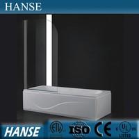 HS-OEM-L acrylic bathtub screen/ bath shower screens/ tempered glass bath screens