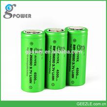 2015 New Promotion 26650 Gpower Battery 3.7v 4500mah Battery Scrap Battery