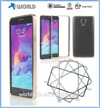 Aluminum Bumper Case for Note 4, Metal Frame Modern Metallic Arc Bumper Case for Samsung Galaxy Note 4 N9100