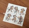 Eco- amichevole bambini cartoni animati scimmie tatuaggi temporanei