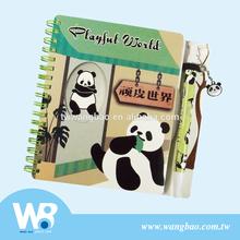 Cute panda ball pen with story notebook set