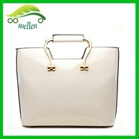 2015 autumn serise of princess handbags leather handle bags jelly tote bags