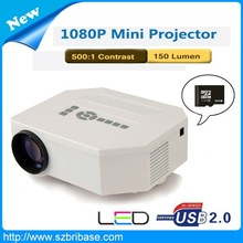 Home theater 1080P mini unic uc30 projector With HDMI,VGA,USB,SD Card slot support 1920x1080