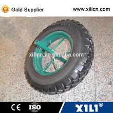 hot sale wheelbarrow sollid rubber tire / 16inch solid rubber wheel