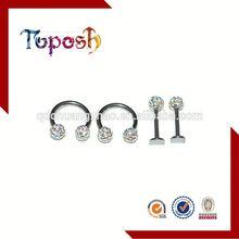 acrylic labret lip rings body piercing jewelry