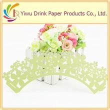 2015 venda quente verde de papel doilies do laço