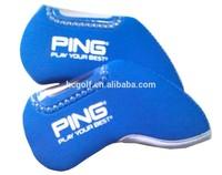 custom blue golf neoprene iron club head cover