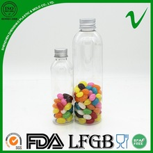 Factory direct supply PET long thin round plastic bottle for candy packing