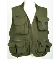 Outdoor fishing vest for man