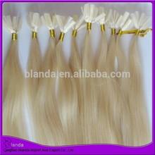 High quality white blonde European hair u tip hair extension