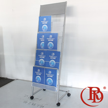 tri-fold used holders wheels brochure stand