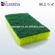 2015 new product pig wash scrub sponge,4pcs kitchen scouring scrub cleaning pad,2015 hot sale new style scrub sponge