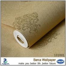 yellow 3d design home silk wallpaper