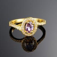 2015 Ring Curve Custom Color Zircon Wedding Cheap Gold Ring