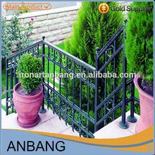 outdoor antique elegent apperance cast wrought iron stair railing