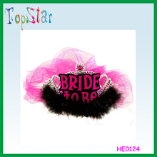 2015 Factory Direct Sale Hen Party Supply Red and Black Hen Party Tiara