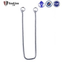 Best selling popular design silver color snake choke chain for pets