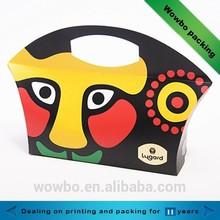 2015 creative cardboard fancy facial makeup pattern food package