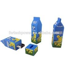 512gb milk bottle shape cycle/rotable cheap usb memory stick/silkscreen printing logo