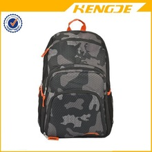 2015 Gray Camouflage 18 inch Outdoor Hiking Backpack Student School Book Bag