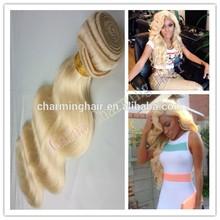 Russian body wave 3pcs lot platinum blonde human hair weave grade 7A shedding free100 unprocessed russian blonde virgin hair