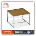 Et-20 moderna folheado mesa de café de aço inoxidável mesa final tops mesa de madeira