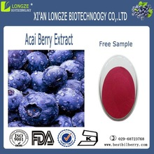 100% natural anthocyanosides acai berry extract 10:1 brazil acai berry powder