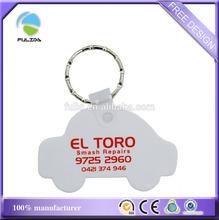 custom white ABS hard plastic motorcycle type keychain car shape keyring