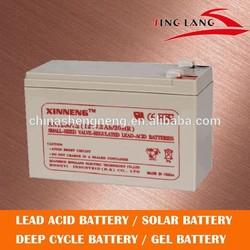 12v 7ah sealed lead acid deep cycle battery for solar system