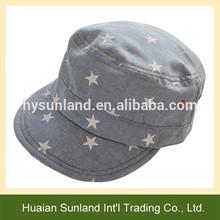 W-1073 custom stars printed kids sports hat children baseball cap