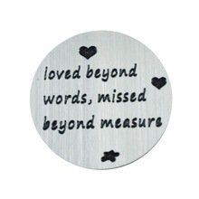 loved beyond words,missed beyond measure Floating Plates Suitable for Your 30mm Lockets