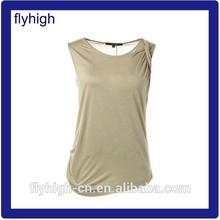round neck women custom pocket t-shirt