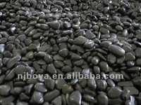 black natural pebble stone for garden and paver