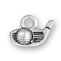 alibaba wholesale vintage tibetan silver plated golf club head & ball sports charm pendant