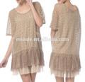 Designer vestido de túnica, camisas personalizadas, senhoras vestido moderno