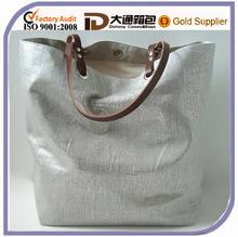 Silver Tote Beach Bag Casual Tote Bag and Hat