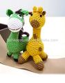 Squeaky algodão crochet toy para o cão, Squeaky crochet brinquedos do cão