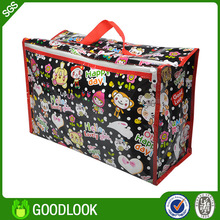 Custom made non woven reusable clear plastic shopping bag for retail