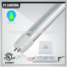 High lumen PIR and sonic 4ft motion sensor led tube light DLC CSA With external driver