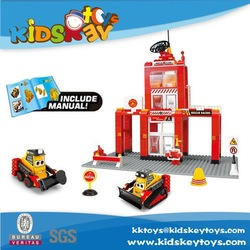New product shantou chenghai toys educational toy building block trucks