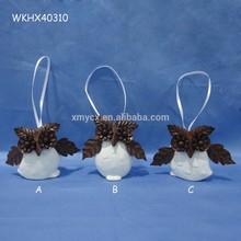 Decoration ceramic hanging car owl pendant