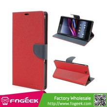 Stand Leather Magnetic Wallet Case for Sony Xperia Z Ultra C6806 C6802 C6833 XL39h