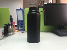 Portable 500ML Wide Mouth Cute Travel Bamboo Cap Single/Double Wall Stainless Steel Water Bottles