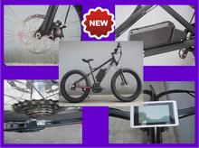 black 500w 48v mid drive electric bike with lightweight MTB shell frame (KCMTB019)