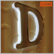 CE,ROHS,ISO certificated metal painting backlit letter for ads