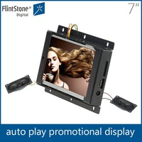 Flintstone 7 inch indoor Gift electronic video advertisement product In-Store TV with USB lcd chinese xvideos quran player